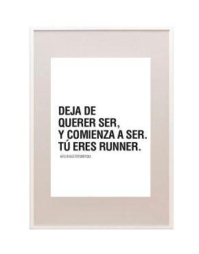 Lámina motivación running eres runner