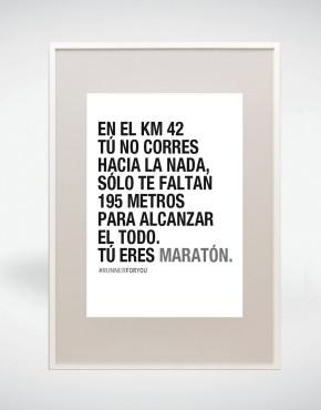 Lámina motivación running Maratón