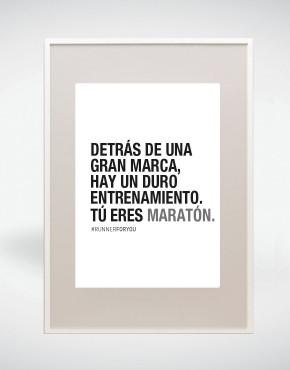Lámina motivación running colección maratón