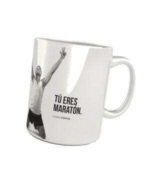 Taza running maratón 42195k