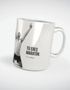 Taza motivacion running colección Maratón 42.195