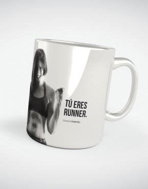 Taza motivacion running colección Eres Runner Energia