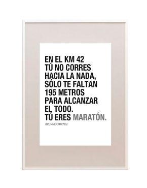 Lámina motivación maratón 42k