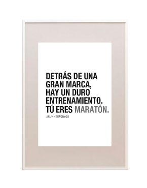 Lámina motivación runner maratón marca