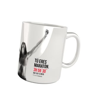 Taza running maratón woman