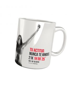 Taza running media maratón woman