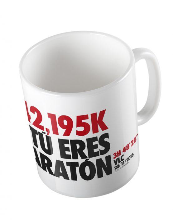 Taza running maratón personalizada