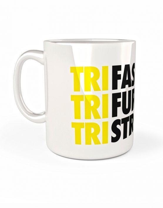 Taza triatlón Tri fast, tri furius, tri stong